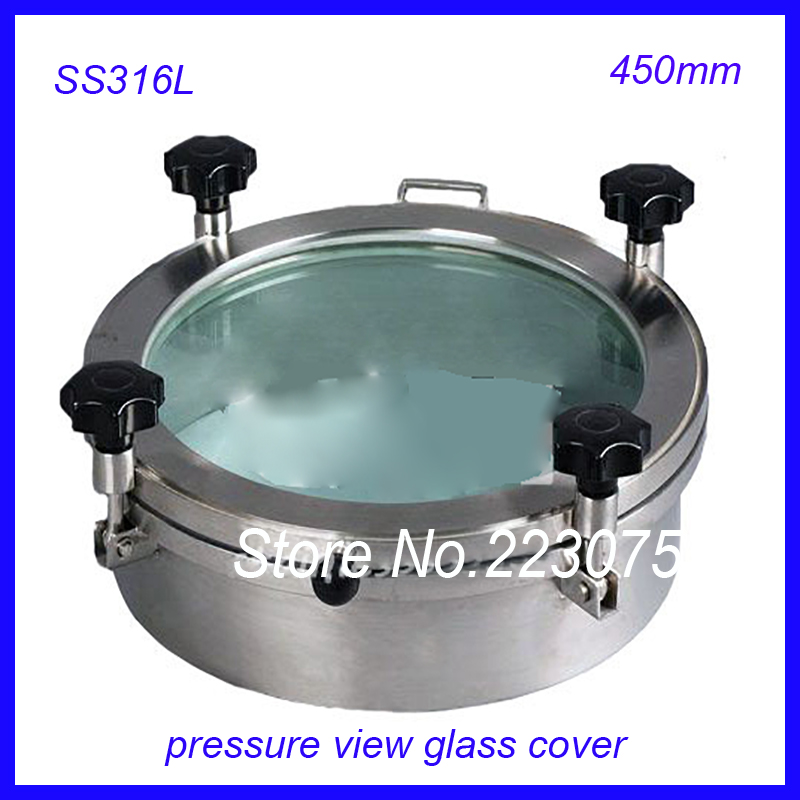 New arrival 450mm SS316L Circular manhole cover w pressure Round tank manway door Full view glass cover with good connection new arrival 450mm ss304 circular manhole cover with pressure round tank manway door full view glass cover with good connection