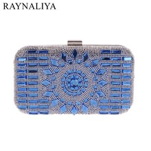 Rhinestone Acrylic Women Evening Bags Small Purse Day Clutches Handbags Mixed Candy Color Handbags Blue Glod Sliver XST-A0062