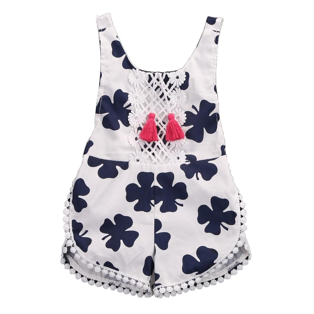 Hi Hi Baby Store Hi Hi Baby Store  Toddler Summer  Baby Girls Kids sleeveless Floral Print  Cotton Romper