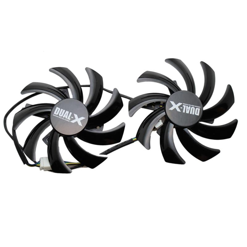 2 unids/set GTX1070/1060 GPU tarjeta VGA refrigerador ventilador para maxsun GTX1070 GTX 1060 tarjeta gráfica como reemplazo