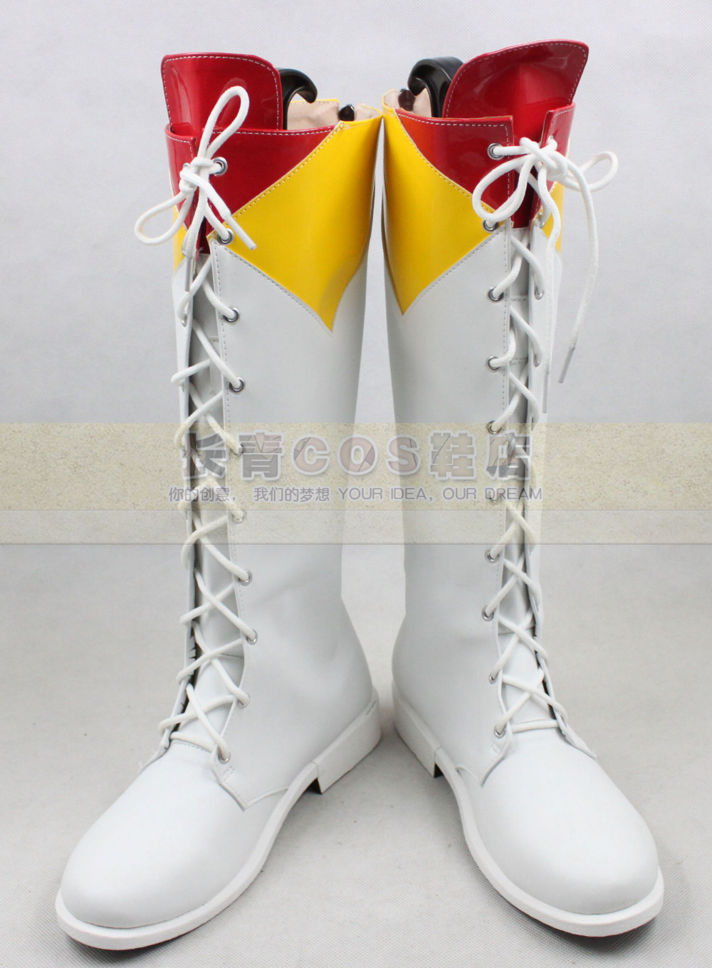 AKB48 Fortune Cookie in Love Gilrs White Long Cosplay Shoes Boots C006