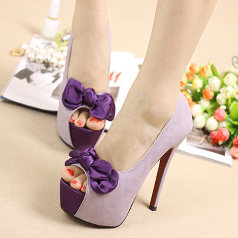 Aliexpress.com : Buy Fashion Sexy Hot Purple Pink Women's Peep ...