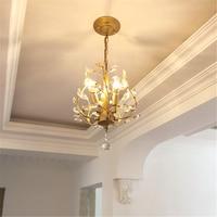 Современная светодиодная хрустальная люстра для гостиной, лампа для спальни, Кухонные светильники, подвесной светильник, светло золотисты