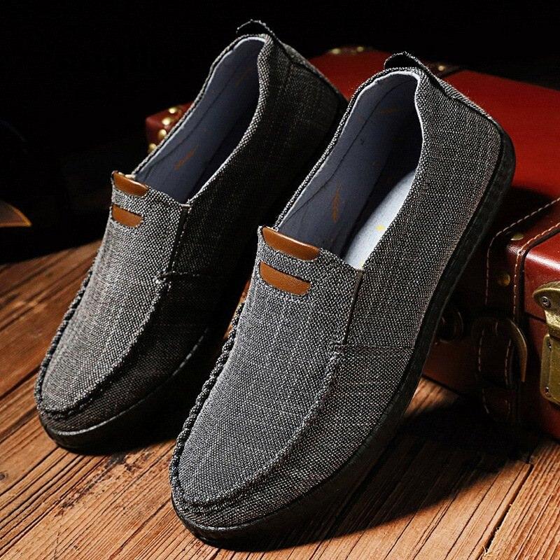 2019 Canvas Shoes Men Breathable comfortable flat m
