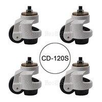 4 шт. cd 120s нагрузка 1000 кг/шт. Регулировка уровня MC нейлон колеса и Алюминий Pad выравнивания МНЛЗ промышленных Колёсики jf1561