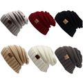 New Style Autumn Winter Warm Knitted Woolen Beanies Caps For Man And Women Solid Crochet Print Letter slouchy Hats