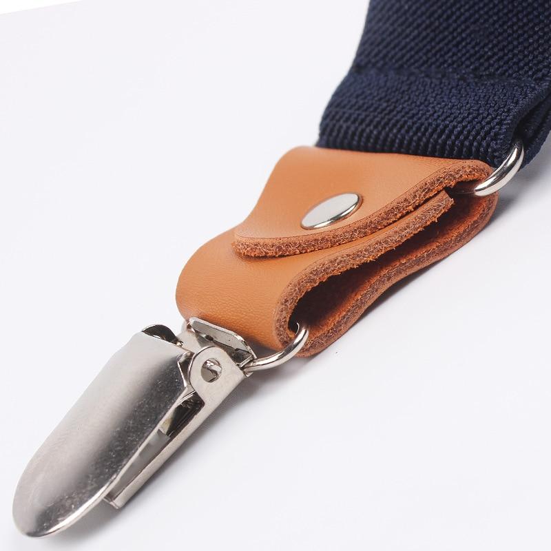 4162b04ca Aliexpress.com   Buy Mantieqingway Business Elastic Clip on Suspenders 4  Clips Navy Blue Suits Braces Adult Buckle Wedding Suspenders Belt Braces  from ...