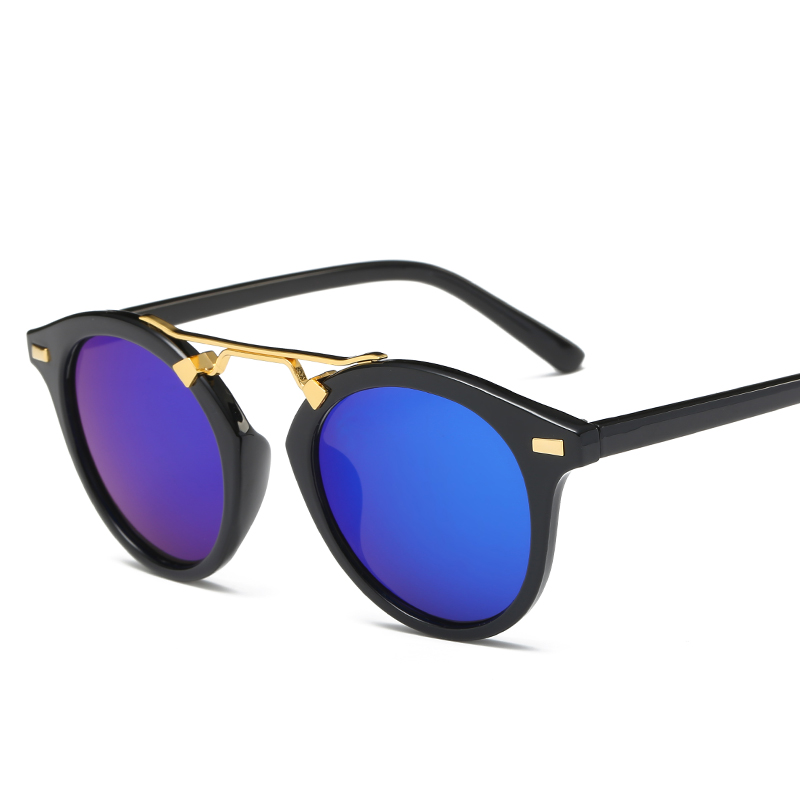 font b Brand b font designer round Polarized sunglasses Mirror women font b NEW b