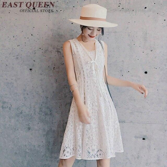 2018 New Arrival White Lace Sundress Keen Length Short White
