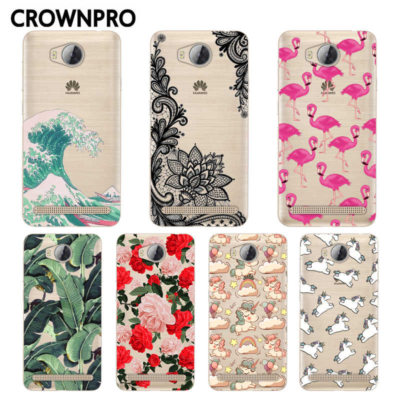 CROWNPRO sFOR Huawei Y3 II Case Cover Painting Soft Silicone Back FOR Huawei Y3 II Phone Capa Y3 2 / Y3II-U22 / LUA-U22/Lua-L21