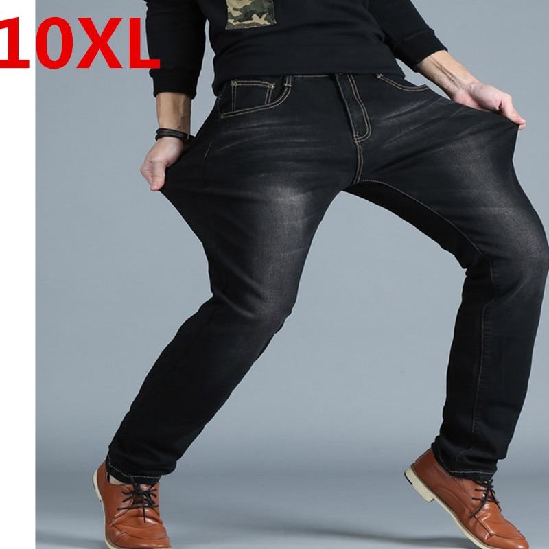 Plus size 10XL 8XL 6XL 5XL 4XL Men's Big and Tall Jeans Pants Denim Mens Loose Fit Jeans Stretch Jeans Men Washed Baggy Big size casual autumn winter mens big size jeans elastic stretch 48 50 oversized denim pants trousers for men big and tall