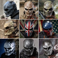 9 Style Typhon Camouflage Tactical Face Mask Military Shooting Paintball Balaclava Airsoft Skull Ghost Protection Full Face Mask