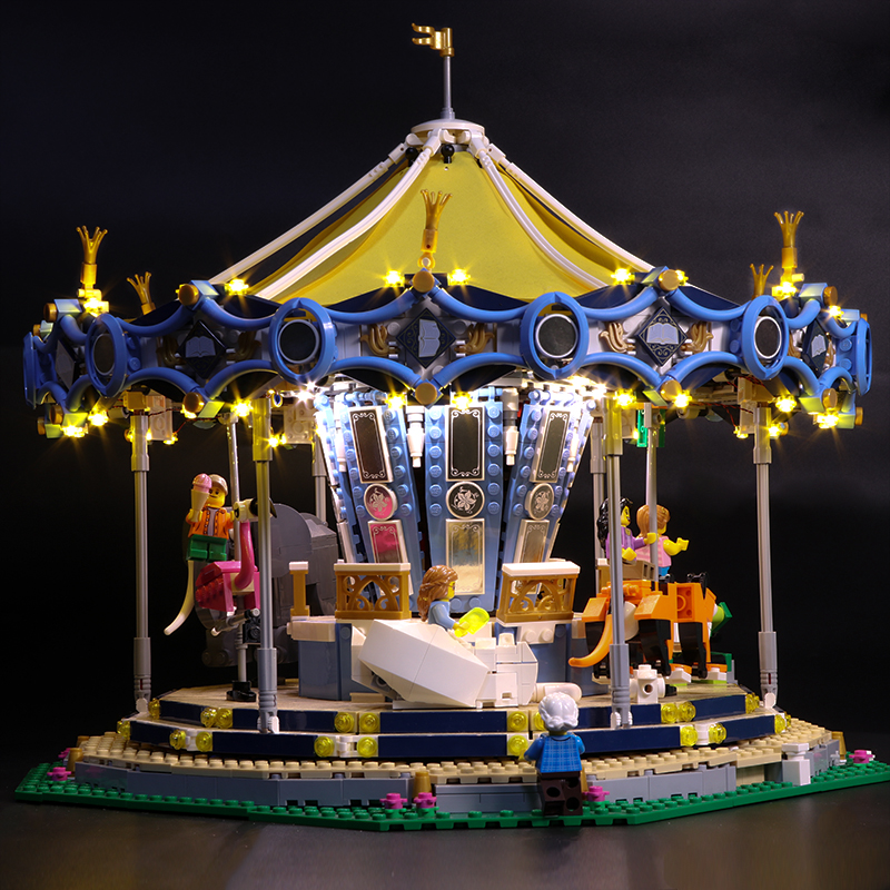 Led Light Set For Lego 10257 Building Blocks Creator City Street Carousel Toys Compatible 15036 (only light with Battery box цена