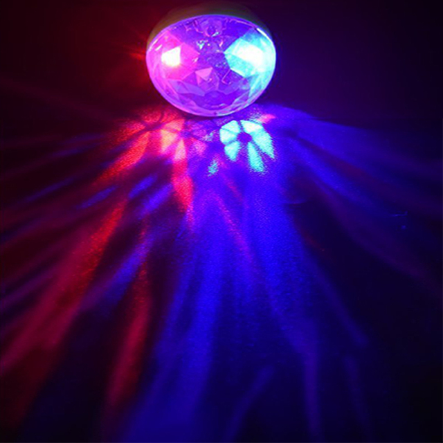 Disco Light Mini USB Disco Crystal Magic Ball Party Portable Colorful Night Lights Gift For Children Phone DC 5V Led Stage Lamp 1