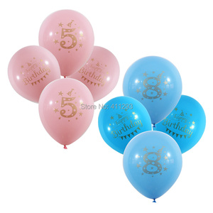 Image 5 - 12pcs/lot Kids Birthday balloon writting number 1 2 3 4 5 6 7 8 9 years old  1st 2nd Birthday party  digital ballon Latex Globos