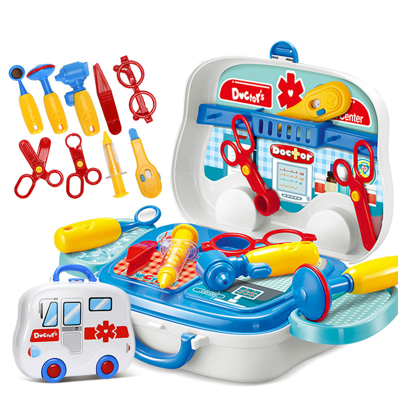 Children Doctor Nurse Medical Equipment Pretend Play Set Educational Toy Kids Role Games Tools Accessories Portable Suitcase