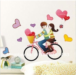 Free Delivery Romantic Couples Bike Travel Wallpaper The Sitting Room Love