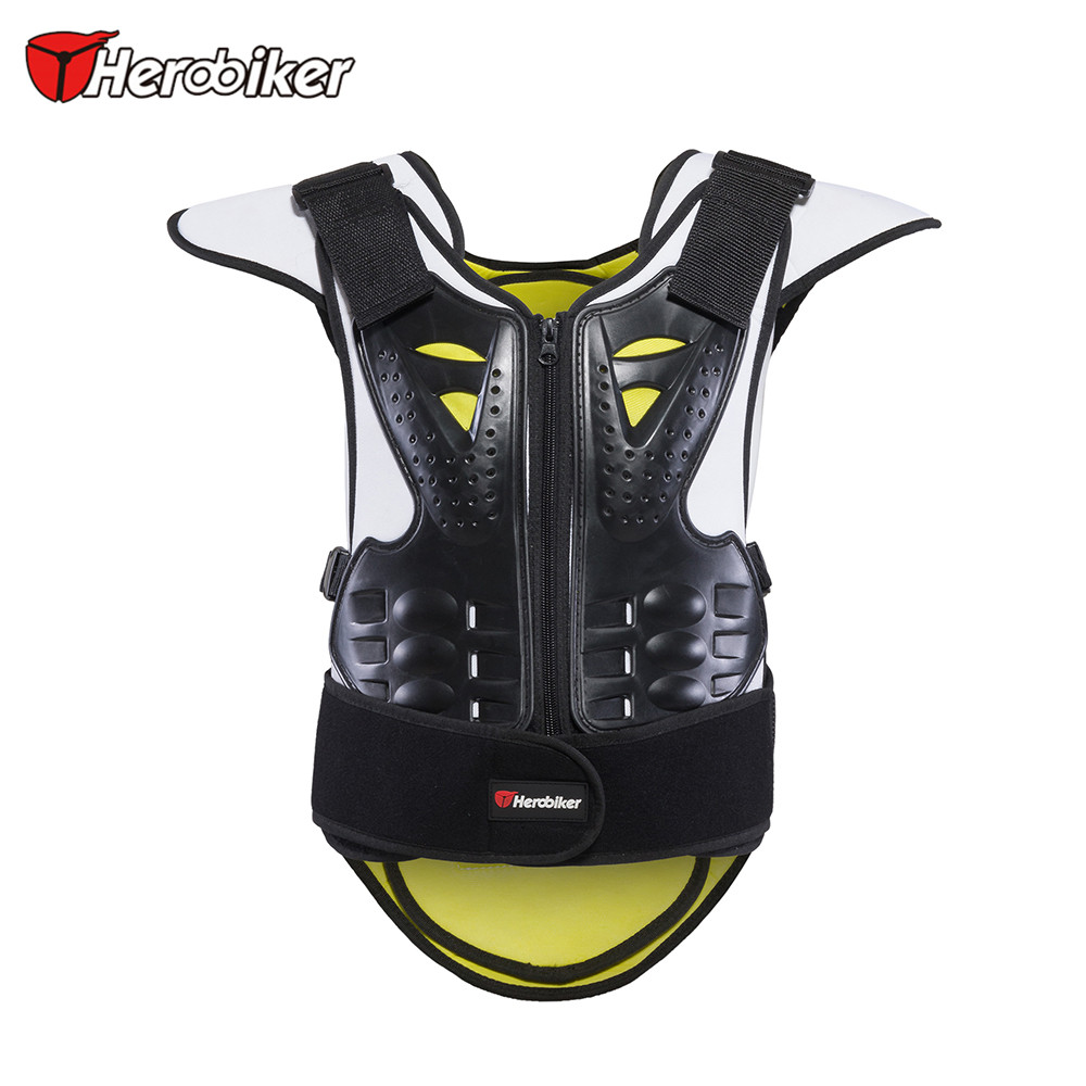 HEROBIKER Motorcycle Protection Motorcycle Body Armor Vest Anti-Wrinkle Motocross Armor Unisex Black Green Motorcycle Jackets herobiker armor removable neck protection guards riding skating motorcycle racing protective gear full body armor protectors