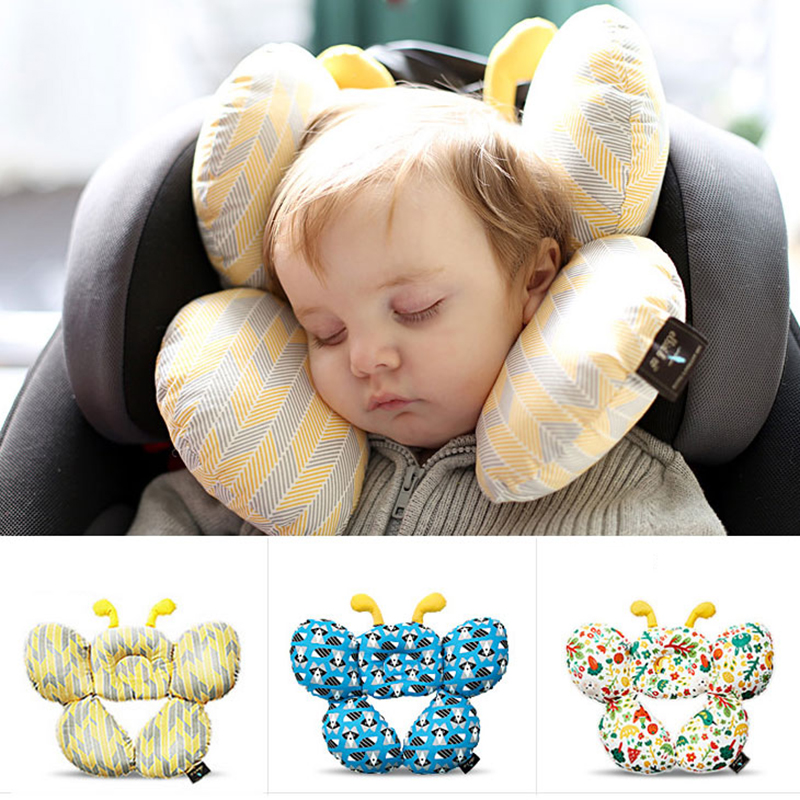 Headrest Baby Pillow Car Travel Sleeping Head Neck Support Baby Seat Harness Shoulder Pad For Child Car Seat Stroller Push Chair