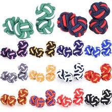Silk Knot Cufflinks Upscale Men's Classic Double Rope Ball K
