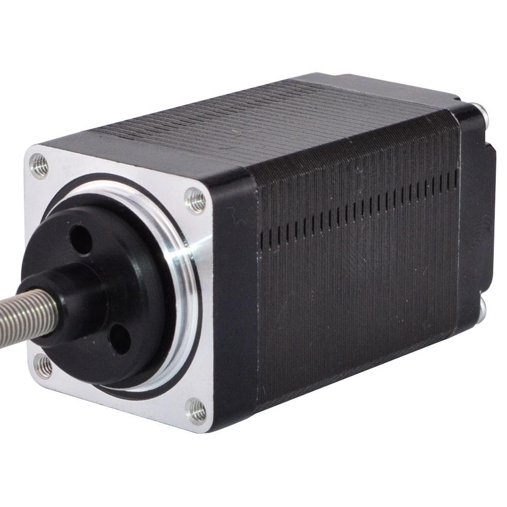Nema 11 External Linear Stepper Motor 4-lead 51mm Stack 067A Lead 0635mm0025 Lead Screw Length 100mm