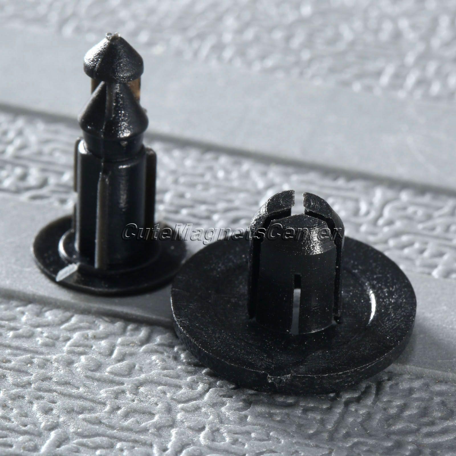50Ps 8mm Hole Cowl Bumper & Fender Liner Clips de tipo de empuje para - Accesorios de interior de coche - foto 6