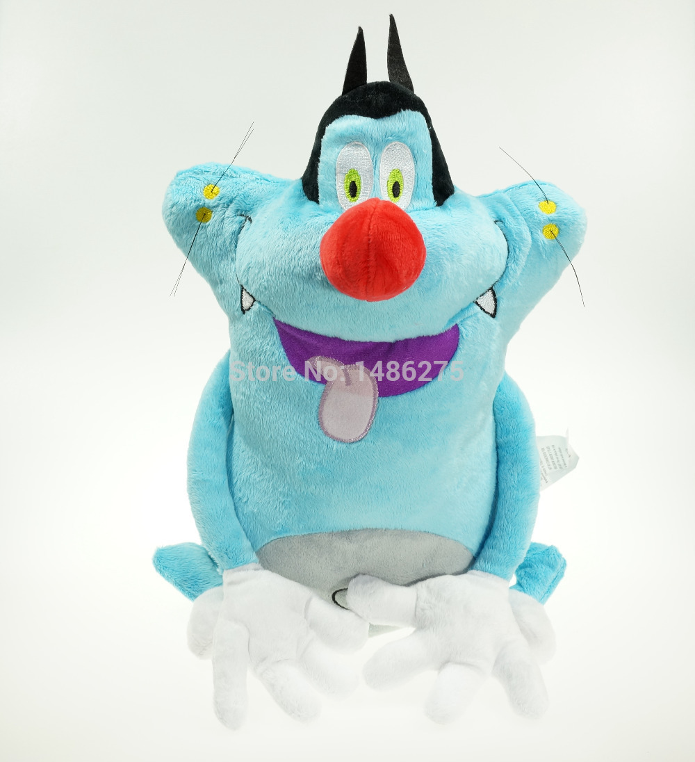 38CM Oggy and the Cockroaches Fat Cats Toys Hobbies Stuffed Plush Animals Toys for Children Soft