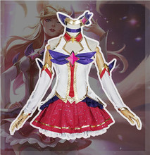 The Popular Game LOL Cosplay Costume Guardian of the Star Ahri  Dress Full Sets  A цена