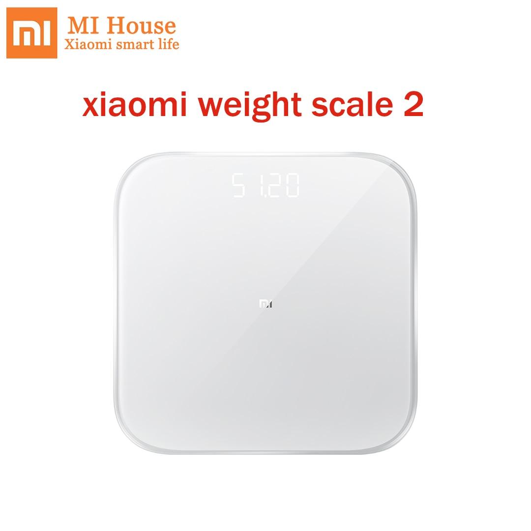 Original Xiaomi balance de poids 2 Smart santé balance de poids Bluetooth 5.0 balance numérique prise en charge Android 4.3 iOS9 Mifit APP par téléphone-in Télécommande connectée from Electronique    1
