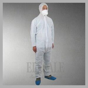 Image 3 - 1 шт одноразовый белый синий комбинезон защитный костюм для живописи украшения одежды Рабочая одежда L/XL/XXL