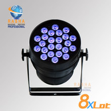 8PCS/LOT Hex Lion Rasha 24*18W 6in1 RGBAW UV Alumnium LED Par Light UV LED Par Can Stage LED Projector
