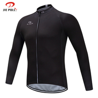Jiepolly Long Sleeve Cycling Jersey Quick Dry Spring Summer Outdoor Sports Bike Bicycle Mtb Clothing Shirts