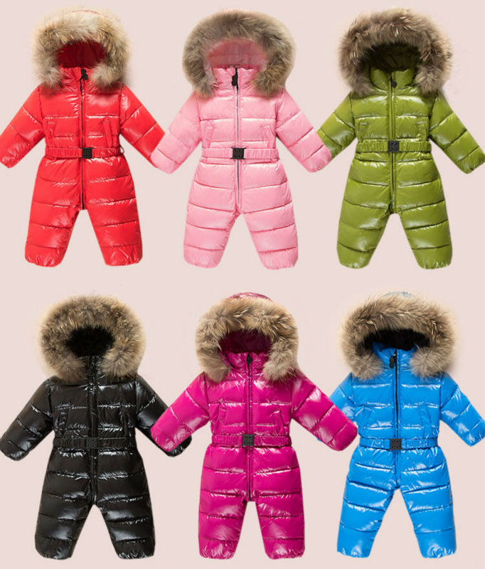 2017 winter RUSSIA baby clothes boy girl thick feather jumpsuit climb clothes out winter clothing vizant winter 525мм 21