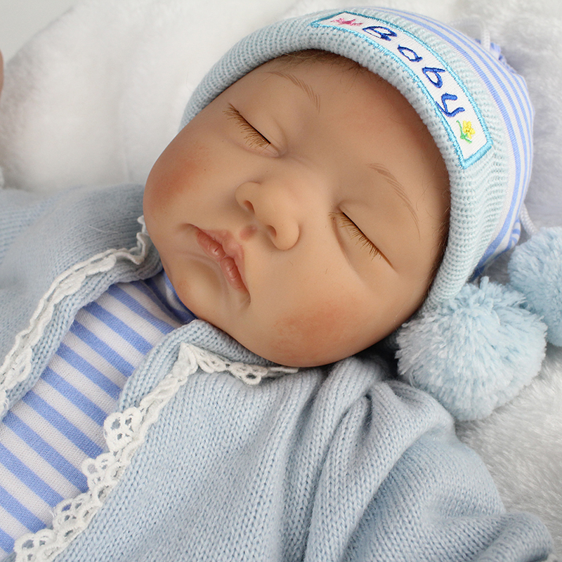 55cm soft body silicone reborn baby boy dolls 55 eyes closed blue clothes real russian doll educational toys birthday gifts kids55cm soft body silicone reborn baby boy dolls 55 eyes closed blue clothes real russian doll educational toys birthday gifts kids