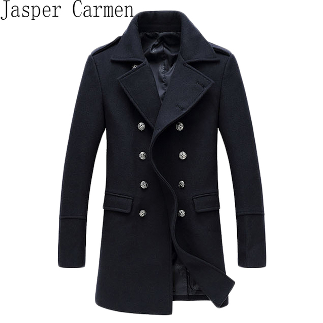 Free shipping winter Famous Brand wool coat mens Long trench coat jacket outerwear coats men dropship Wool & Blends 170hfx
