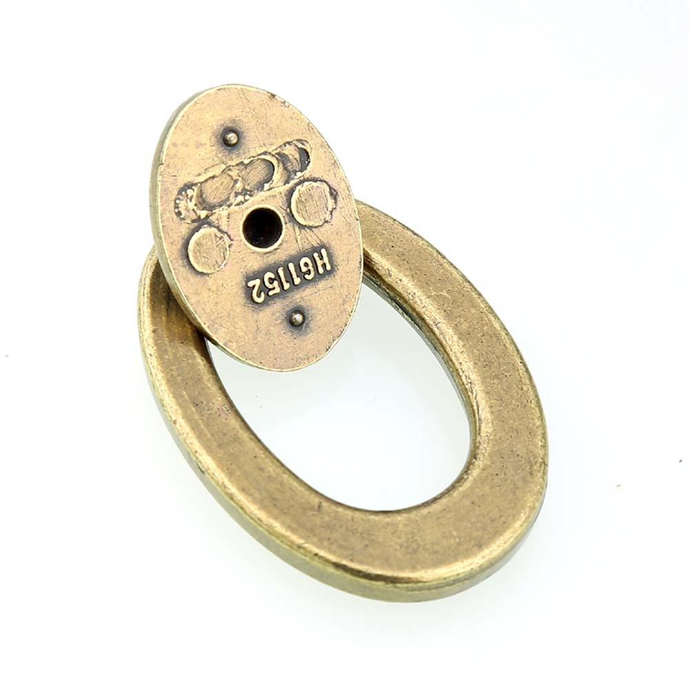 Винтажный стиль ELIPSO Круглый падения кольца мебель, дверные ручки бронза/античная латунь ящик шкафа комод дверные ручки тянет ручки