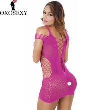 METERNIS black blue red 6 colors sexy babydoll hollow fishnet baby doll women sexy lingerie hot pole dance sexy costumes 020