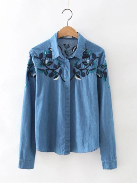 Denim Blouse For Womens 70