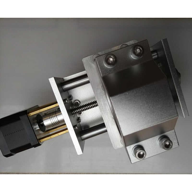 彫刻機金属 Z 軸、ガイドレール直径 12 ミリメートル、ストローク約 4 センチメートル、と 42 ステップモータ
