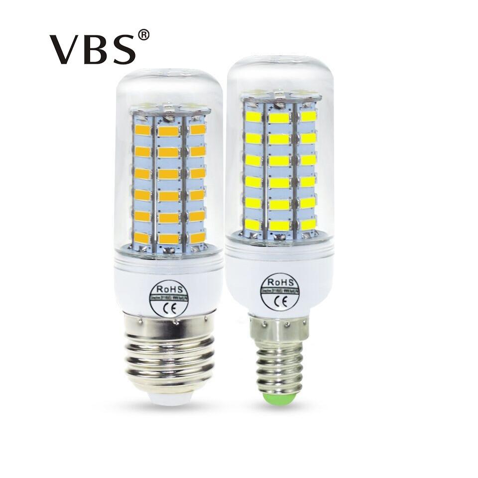 Led Bulb Lamp E27 E14 AC220V Lampada De Led Refletor 24-69LEDs White/Warm White Asign Le ...