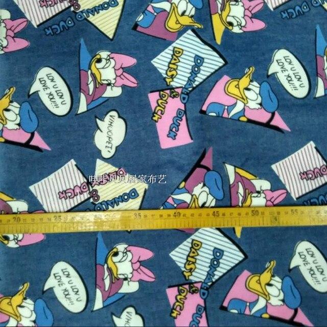 140*50 cm Donald Duck und cowboy Jean denim Tuch Gewaschen ...