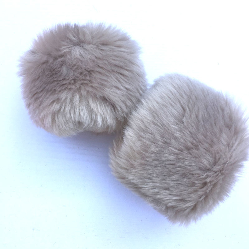 Women Wrist Gloves Cute Winter Warm Faux Fur Wristband Cuff Fabala