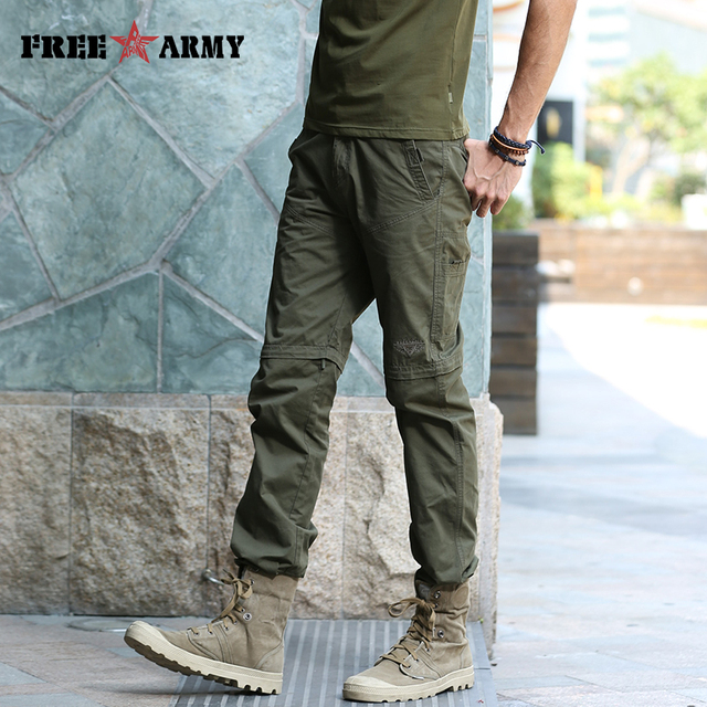 e9639c294c32 Straight Design Summer Pants Detachable MutiFunction Mens Fashion Army Pants  Solid Green Anti-inset Fabric Man Trousers MK-7180A