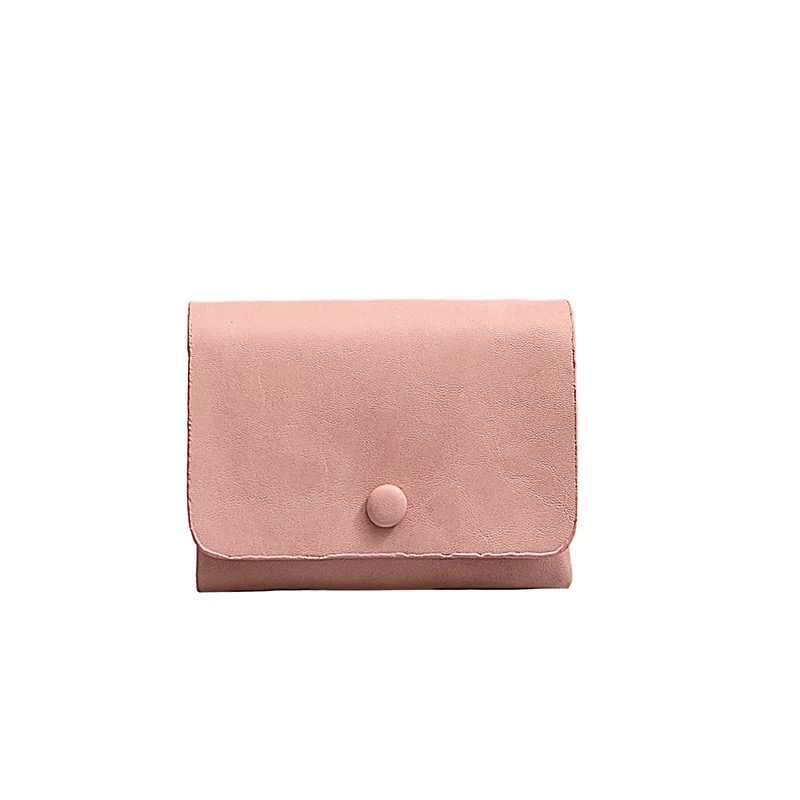 Band Fashion Women Wallet Small Three Fold PU leather Coin Wallet Fresh Multi-function Female Pure Color Coin Purse Lady Wallet