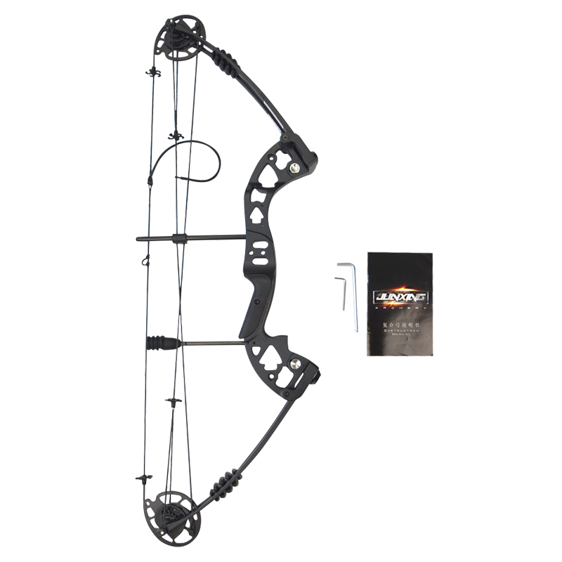 1set 30-55lbs Archery Compound Bow 38inch IBO 310FPS Pulley Bow Adjustable 70% Labor Saving Ratio Shooting Training Hunting Bow