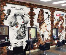 Beibehang – papier peint mural 3d personnalisé, style rétro européen et américain, salon de beauté, arrière-plan pour outillage