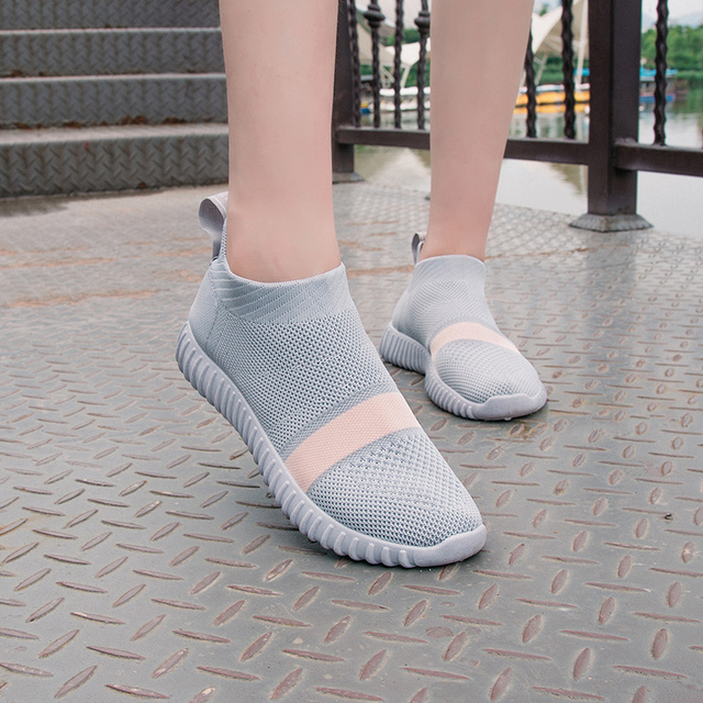 Sooneeya 2018 New Stretch Sock Shoes Woman Flats Fashion Bling Women Casual Shoes Elastic Sneakers Shoes Outdoor Female Loafers 5