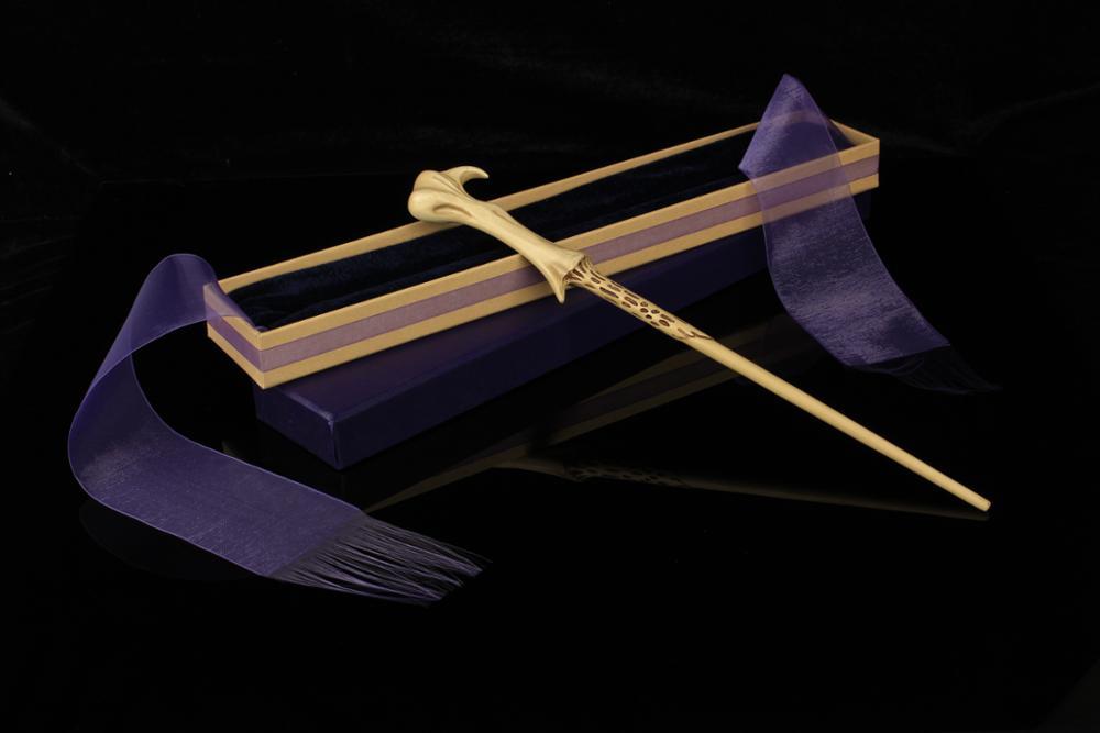 Arrive Metal Iron Core Severus Snape Magic Wand Elegant Ribbon Gift Box Packing