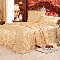100% шелковые постельные принадлежности тутового шелка, простыня и пододеяльник, покрывало королевского размера, цветочный дизайн, комплект