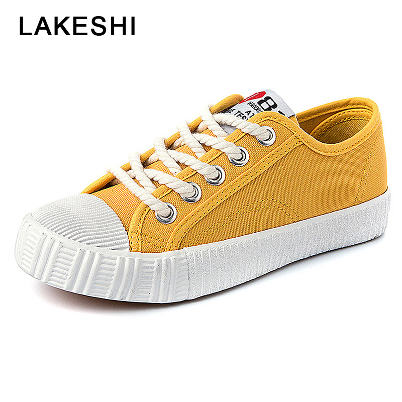 Women Shoes 2018 Spring New Casual Shoes Woman White Shoes Fashion Solid Canvas Shoes Female Round Toe 2018 new canvas shoes spring summer women shoes genuine leather canvas shoes female round toe flat shoes lace up female canvas s